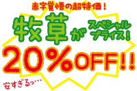 牧草20%OFF